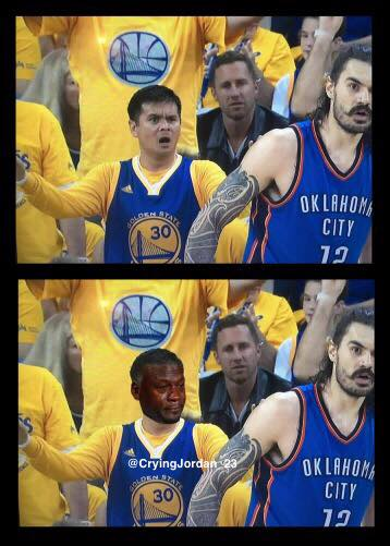 Crying Jordan Warriors Fans