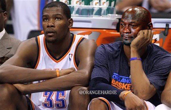 Crying Jordan Westbrook Bench