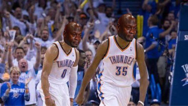 Crying Jordan Westbrook & Durant