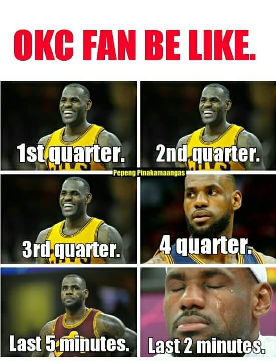 Crying OKC Fans