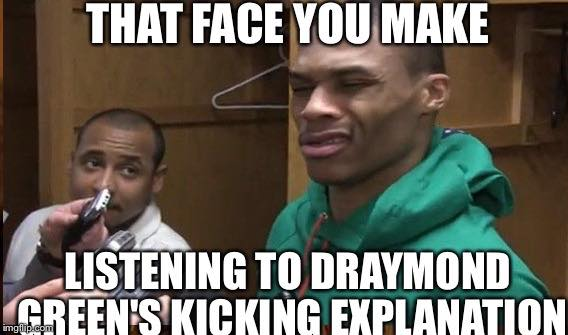 Draymond's explanation