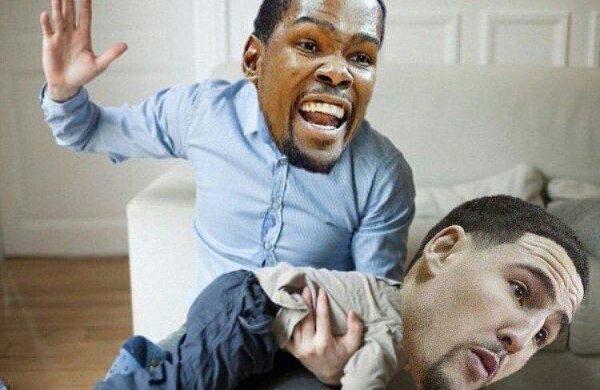Durant spanking Thompson