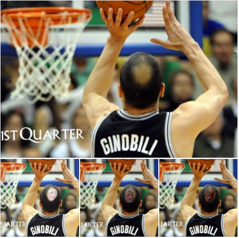 Ginobili Crying Jordan Bald Spot