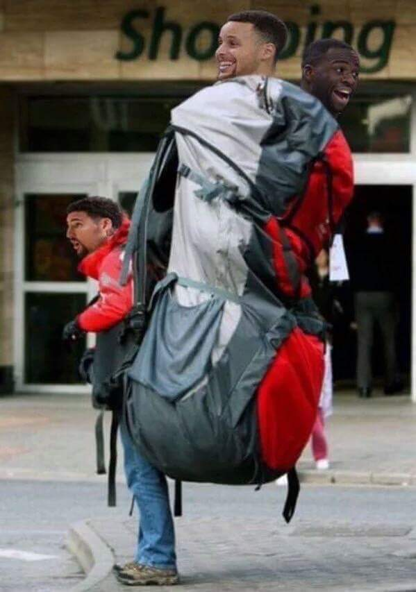 Klay carrying Curry & Dray