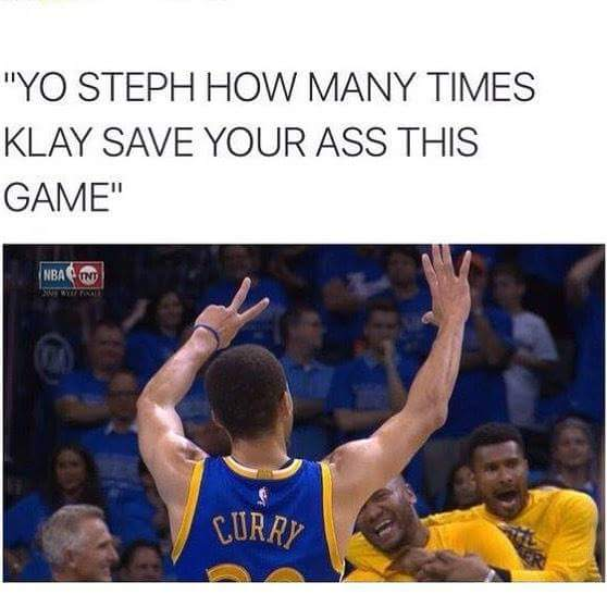 Klay with the Save