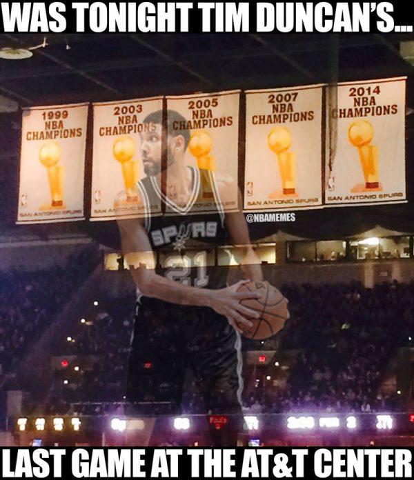 Last Tim Duncan Game