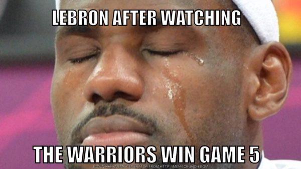 LeBron James Crying