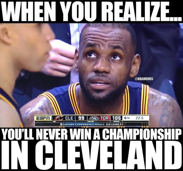 LeBron James no Championship in Cleveland
