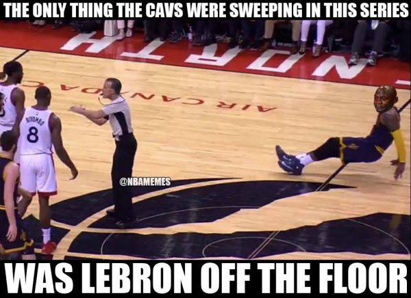 LeBron Sweeping the Floor