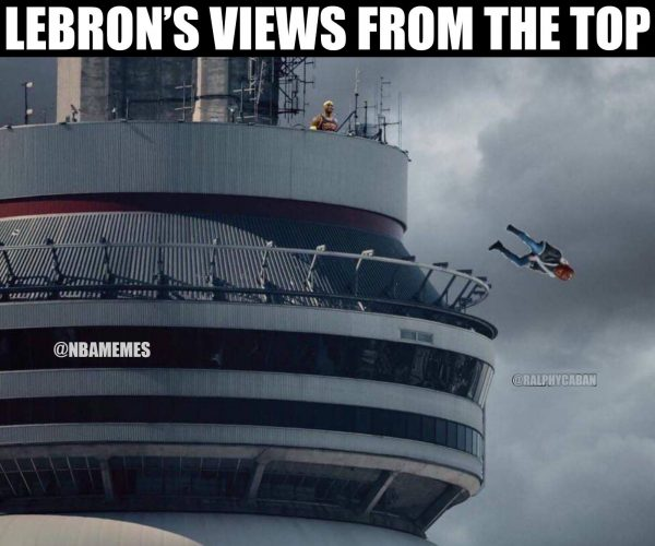 LeBron's view from the top