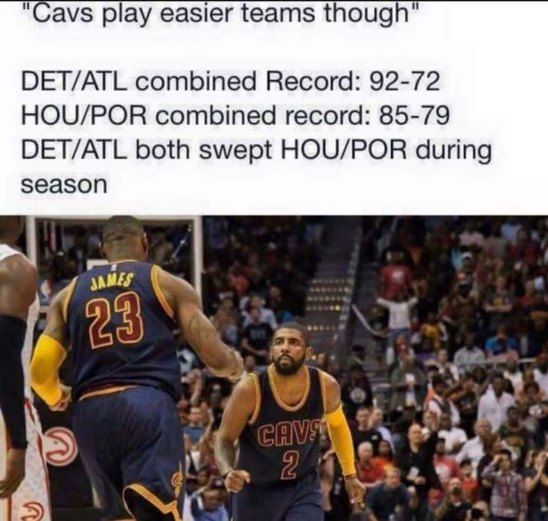 Misconception about Cavs