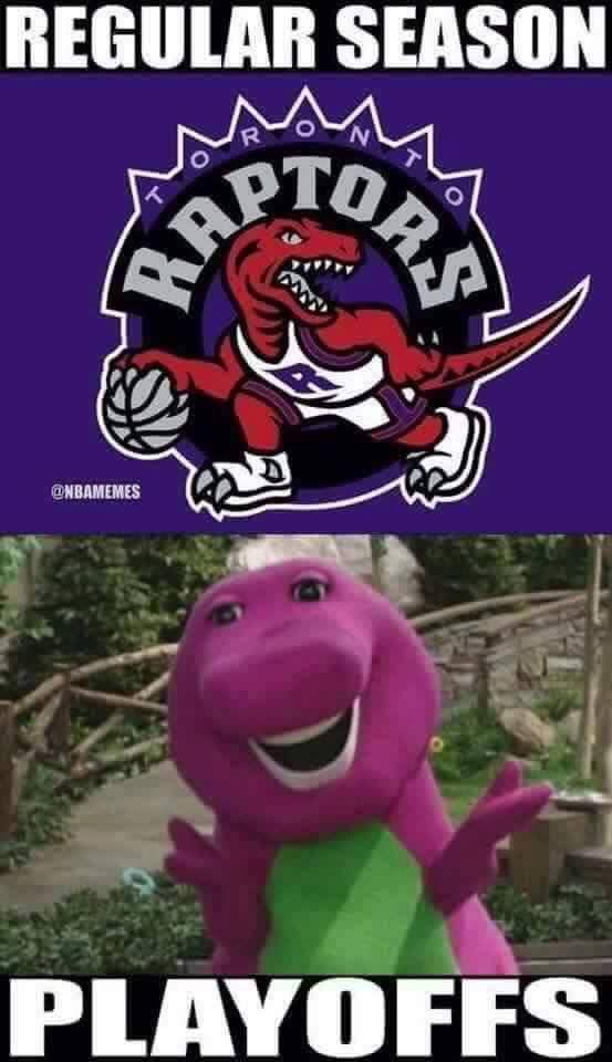 Raptors Barney Meme