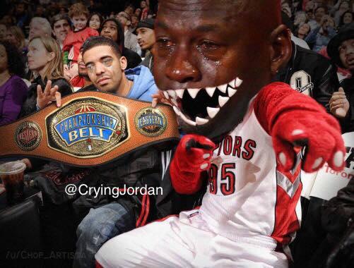 Raptors Fans Crying Jordan