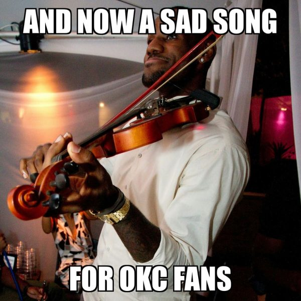 Sad song for OKC fans