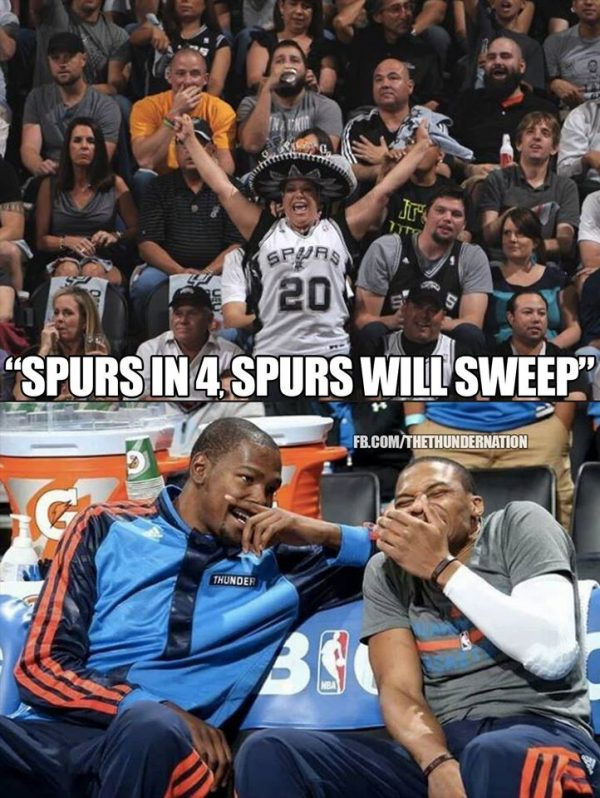 Spurs in 4