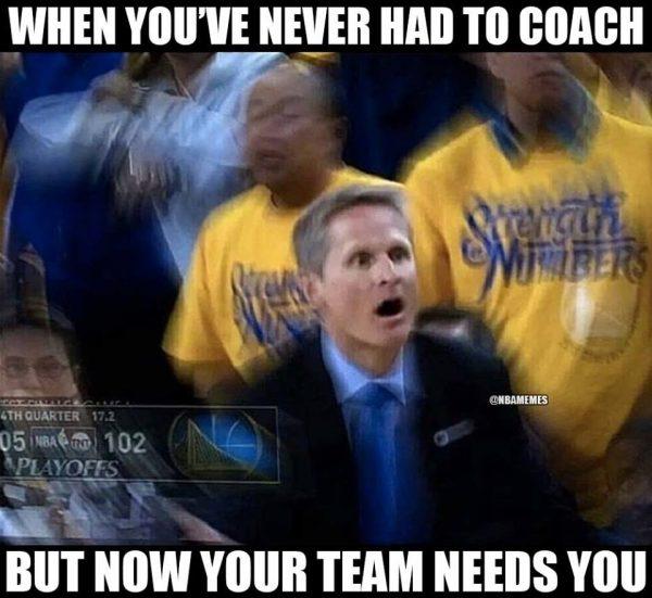 Steve Kerr forced to coach