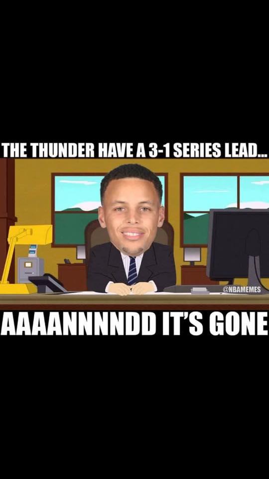 Thunder 3-1 lead gone