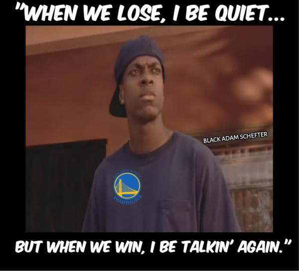 Warriors Fans Trash Talking