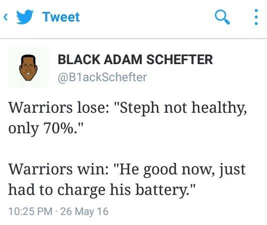 Warriors excuses