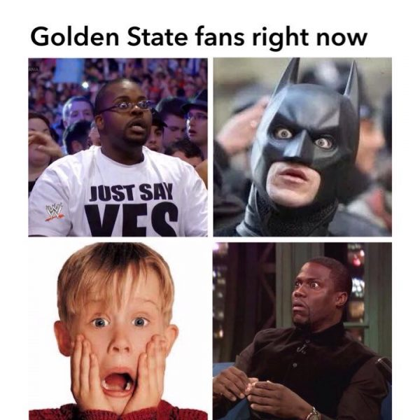 Warriors fans right now