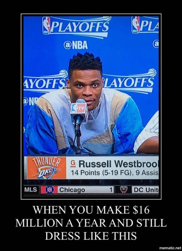 Westbrook Fashion sense