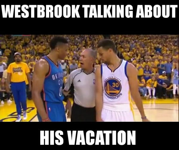 Westbrook talking about his vacation