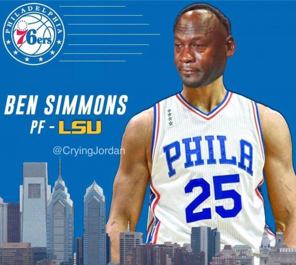 Ben Simmons Crying Jordan