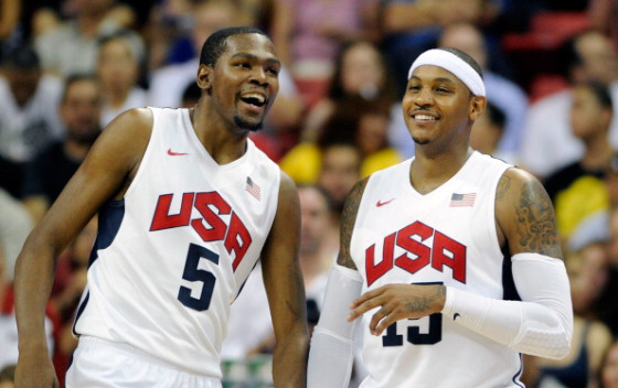 Carmelo Anthony, Kevin Durant, Knicks