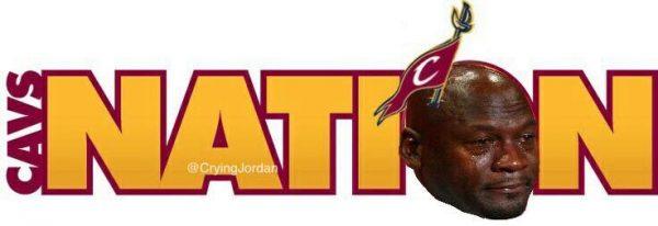 Cavs Nation Crying Jordan