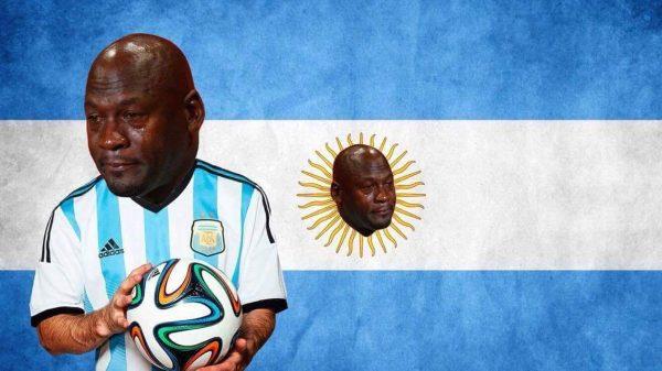 Crying Jordan Argentina Flag