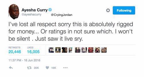 Crying Jordan Ayesha Curry Twitter