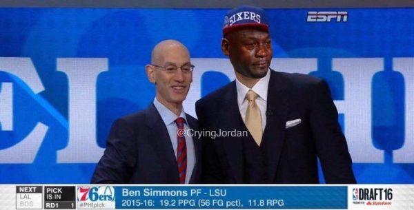 Crying Jordan Ben Simmons