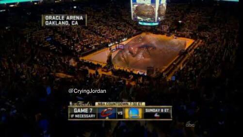 Crying Jordan Oracle Arena
