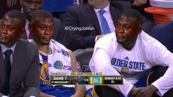 Crying Jordan Warriors Bench
