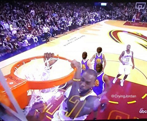 Crying Jordan Warriors Defense