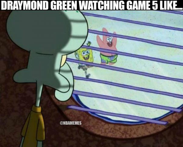 Draymond watching game 5