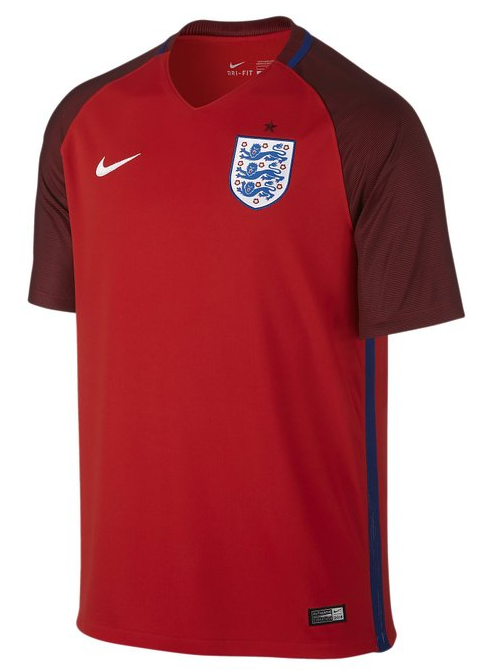 England Euro 2016 Red Jersey