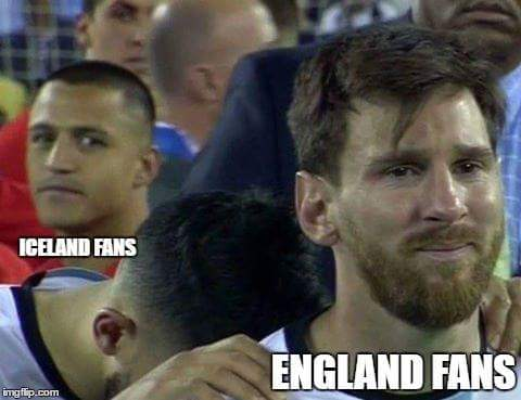 Iceland vs England fans