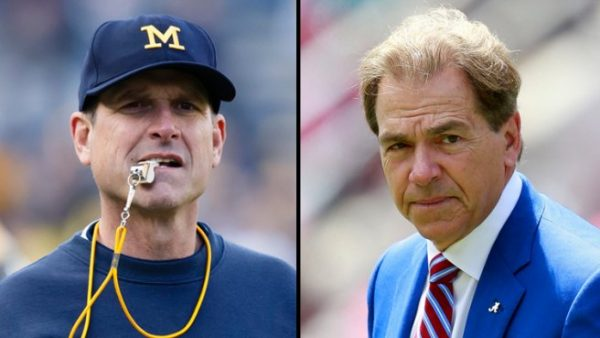 Jim Harbaugh, Nick Saban