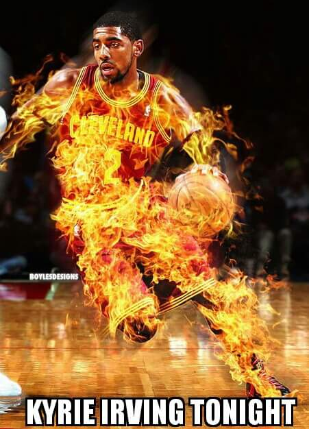 Kyrie Irving on Fire