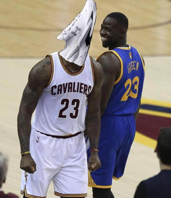 LeBron Curry Shoe Head