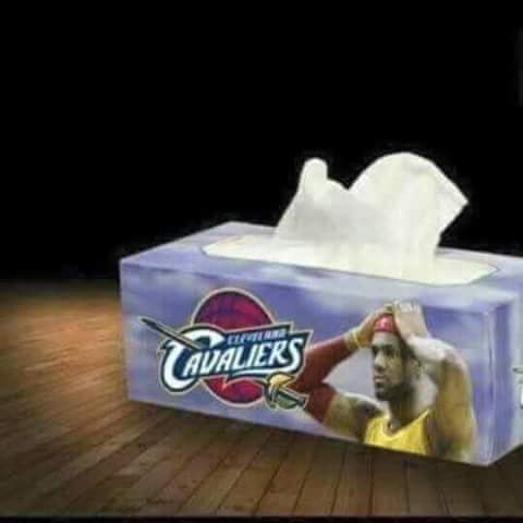 LeBron James tissues