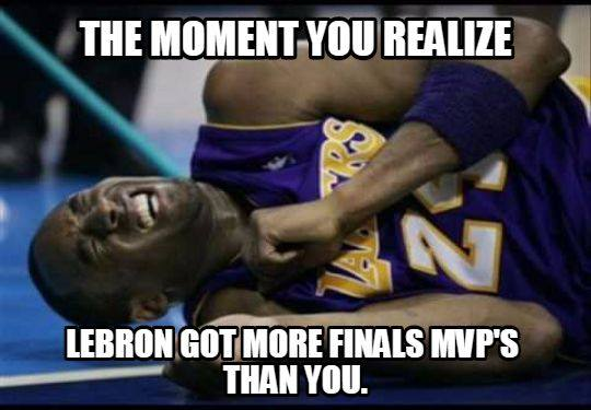 LeBron more Finals MVPs than Kobe