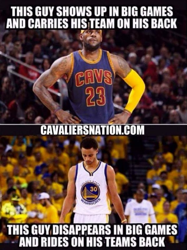 LeBron vs Curry Meme