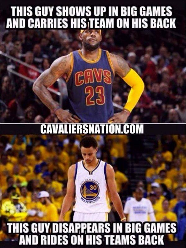 LeBron vs Curry Meme