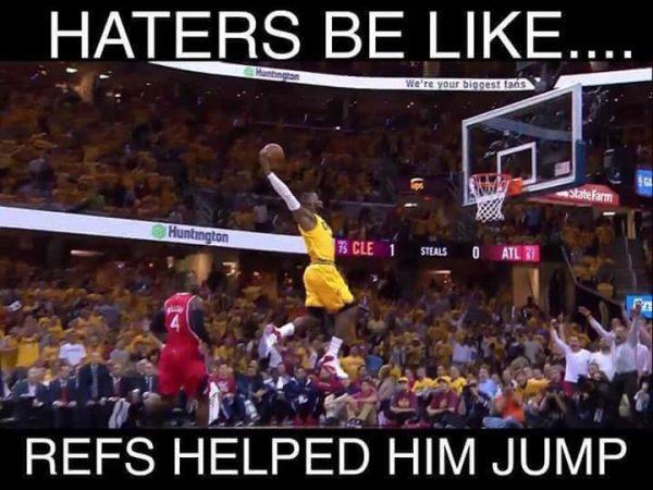 Refs helped him jump