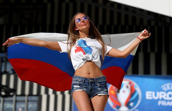 Russian fan hot