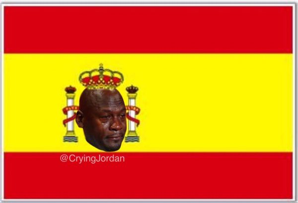 Spain Flag Crying Jordan