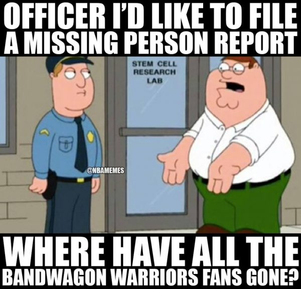 Warriors fans gone