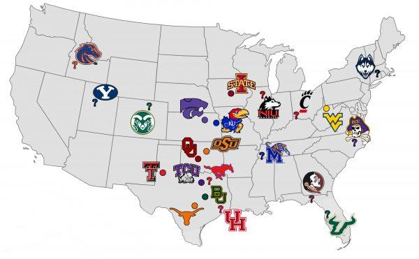 Big 12 Future Map